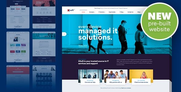 Nanosoft – WP Theme for IT Solutions and Services Company v1.1.13