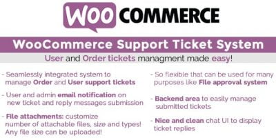 WooCommerce Support Ticket System v13.3