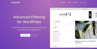 FacetWP 3.8.12 – Advanced Filter for WordPress + Addons