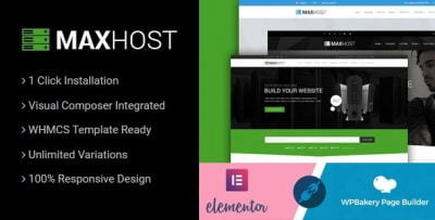 MaxHost – Web Hosting WHMCS and Corporate Business WordPress Theme with WooCommerce v7.4.2