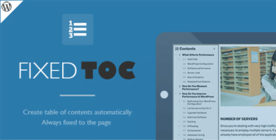 Fixed TOC Table of Contents Plugin 3.1.24