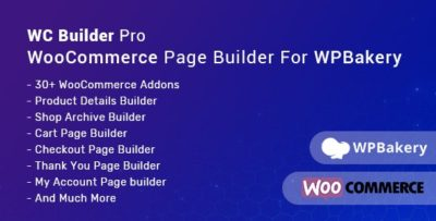 WC Builder Pro 1.0.8 – WooCommerce Page Builder for WPBakery