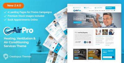 AirPro – Heating and Air conditioning WordPress Theme for Maintenance Services v2.6.8