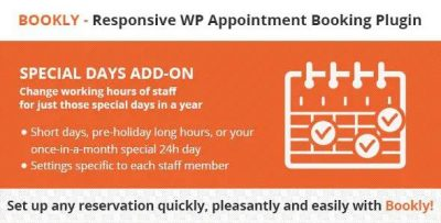Bookly Pro Special Days Addon 4.0