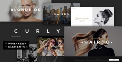 Curly Hairdressers and Hair Salons Theme 2.5
