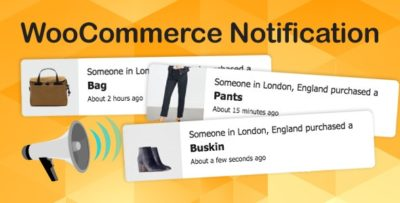 WooCommerce Notification 1.4.2.5 – Boost Your Sales – Live Feed Sales – Recent Sales Popup – Upsells
