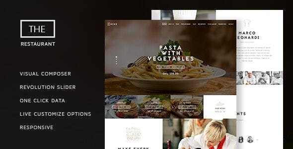 The Restaurant 1.4 – Restauranteur and Catering One Page Theme