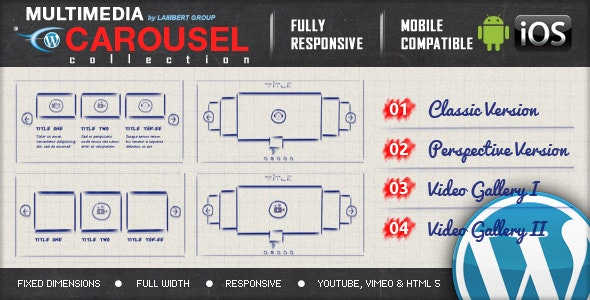 Multimedia Responsive Carousel with Image Video Audio Support v2.2
