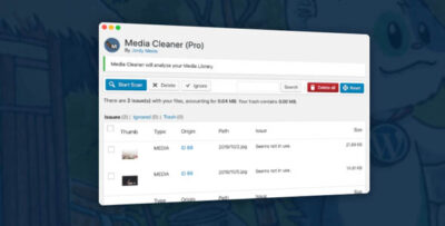 Media Cleaner Pro 6.2.4 – Cleans Media Library and Uploads Directory
